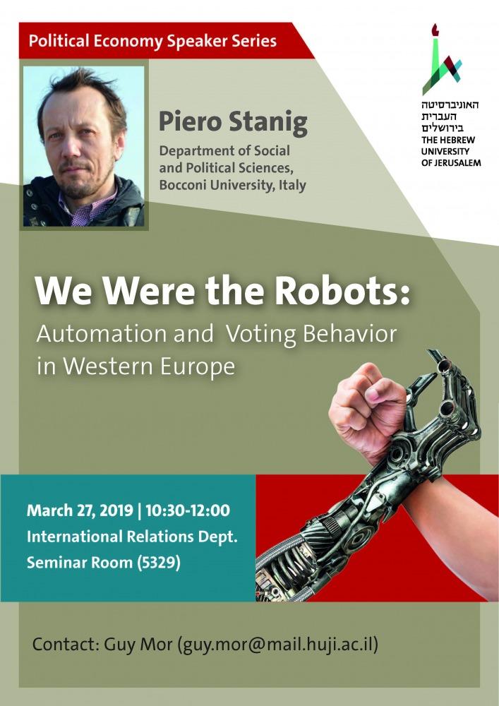 Piero Stanig lecture